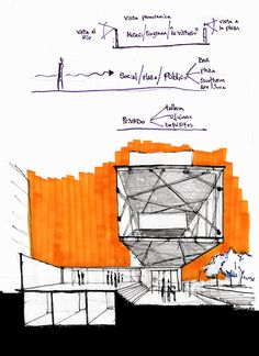 Interesting Find A Career In Architecture Ideas. Admirable Find A Career In Architecture Ideas. Architecture Design, Architecture Sketchbook, Conceptual Sketches, Drawing Sketches, Drawing Ideas, Sketching, Art Basics, Interior Sketch, House Drawing