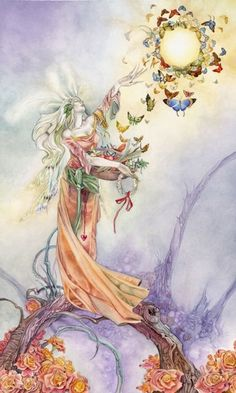 """""""The birth of that marvelous wish in your soul—the dawning of that secret dream—was the Voice of God himself telling you to arise and come up higher because he had need of you."""" ~ Emmet Fox """"The Empress"""" card from the Shadowscapes Tarot by Stephanie Pui-Mun Law and Barbara Moore."""