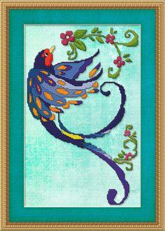 Counted Cross Stitch Pattern Art Deco Bird 4 Cross Stitch Pattern. $2.95, via Etsy.