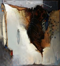 Babeck Emanuel  Cocoon I  Mixed media on canvas