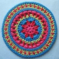 Crochet Mandala Wheel made by Miriam, Essex, UK for yarndale.co.uk