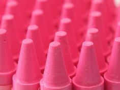 Pink crayons...for the little princess in us all