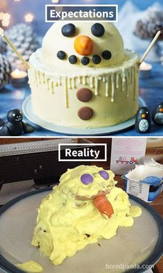 Expectations Vs Reality: 30 Of The Worst Cake Fails Ever - Funny Troll & Memes 2019 Cakes To Make, How To Make Cake, Bad Cakes, Cute Cakes, Cooking Humor, Food Humor, Cooking Lamb, Epic Cake Fails, Cakes Gone Wrong