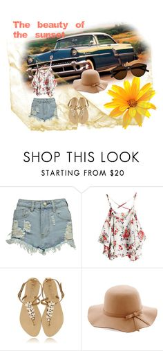 """""""Sunset"""" by mariana-fifi-cardoso ❤ liked on Polyvore featuring Boohoo and Yves Saint Laurent"""