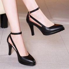Lace Up Heels, Ankle Strap Heels, Pumps Heels, Stiletto Heels, Heeled Sandals, Sandals Outfit, Ankle Straps, Green Heels, Black High Heels