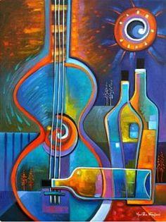Guitarras y vino
