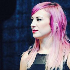 JenLedger the drummer for SKILLET. Such a beautiful lady!