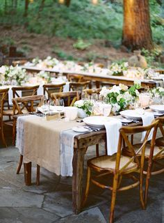 #tablescapes, #table-runners  Photography: Jose Villa Photography - josevillaphoto.com Event Planning: Rosemary Events - rosemaryevents.com Event Design and Florals: Flower Wild - flowerwild.com  Read More: http://www.stylemepretty.com/2014/08/19/sonoma-ranch-wedding-inspired-by-all-things-french/