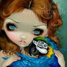 Faces of Faery 223 Macaw Fairy Jasmine Becket-Griffith big eye art lowbrow art