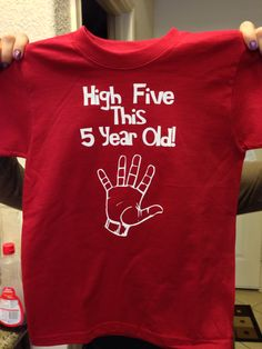 Five Year Old Birthday Tshirt Made With Heat Transfer Vinyl