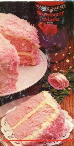 Ai-Cuisine.com - Dinner Ideas, Food Recipes, Healthy Recipes: Strawberry Colada Coconut Cake