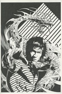 Bruce Lee by Mike Deodato Comic Book Pages, Comic Book Artists, Comic Book Characters, Comic Artist, Comic Books Art, Mike Deodato, Arte Dc Comics, Marvel Comics, Ms Marvel