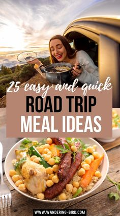 25 Easy and Quick Road Trip Meal Ideas. Road Trip meals- quick and easy road trip meal ideas to pack and prep for adults, couples & families. Healthy and cheap road trip meals to make ahead, to pack or to cook on the road. Road trip meal ideas for kids, no cook ideas for lunches. Road Trip Dinner Ideas | Road Trip Meal Ideas | Easy Road Trip Meals | Road Trip Food Meals | Road Trip Snacks | Road Trip Packing | Road Trip Food | Road Trip Packing List, Road Trip Snacks, Meal Ideas, Dinner Ideas, Brown Sauce, Fresh Bread, Lunches, Food To Make, Meal Planning