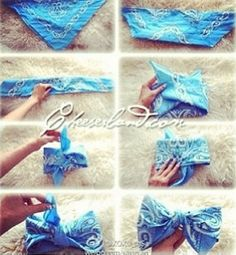 How to make a bandana bow!