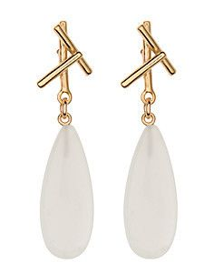 #HazelSmyth. #SticksCollection. Sticks with Drop. Gold. Moonstone.
