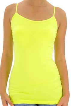 Daily Deal 7/18/16. One size seamless tank in neon yellow. Free Standard Shipping in the US!