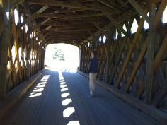 1.  You'll find tourists lurking around covered bridges taking pictures.