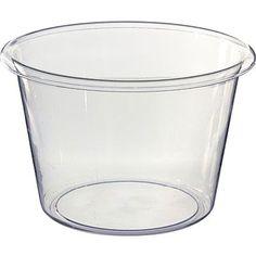 CLEAR Jumbo Plastic Ice Bucket