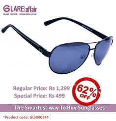 EDWARD BLAZE EB- 2008 BLACK AVIATOR SUNGLASSES http://www.glareaffair.com/sunglasses/edward-blaze-eb-2008-black-aviator-sunglasses.html  Brand : Edward Blaze  Regular Price: Rs 1,299 Special Price: Rs 499  Discount : Rs 800 (62%)
