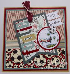 Lili of the Valley New Release- Football Trios! Birthday Cards For Boys, Boy Birthday, Kids Cards, Men's Cards, Beautiful Handmade Cards, Masculine Cards, Lily Of The Valley, Card Tags, Cardmaking