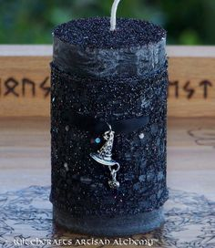 BLACK HAT SOCIETY Witches Brew Circle of Friends Pillar Candle for Witchy Good Fun, Coven Ritual, Witches Gathering, Samhain, Halloween by ArtisanWitchcrafts, $19.95