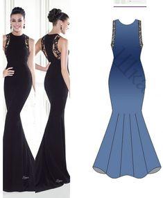 Evening Dress Pattern Free 40e1c5f29b02