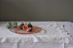 Fig Still Life on the Kitchen Table by dawn mead