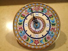CEARCO clock plate, hand made in Spain. Found it hiding among the plates! My biggest find yet! I love this in my kitchen!
