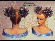 Прическа на длинные волосы, на средние волосы Ажурный бант из волос hair bow Frisur Bogen Kapralova - YouTube