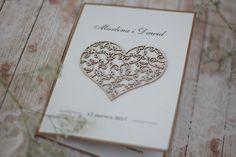 rustykalne zaproszenia na ślub, vintage