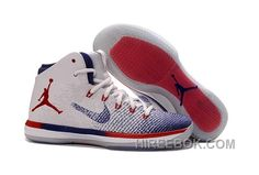 "ec4e88ec3be9 2017 Air Jordan XXX1 ""Olympic"" USA White University Red-Deep Royal Blue Top  Deals ZxwCc4"