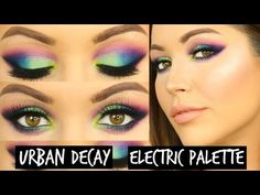Urban Decay Electric Palette Tutorial - Bright and Colourful Spring Makeup   Laura Sommerville - YouTube