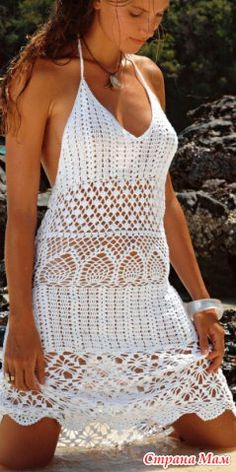 Он-лайн пляжное платье - Вяжем вместе он-лайн - Страна Мам