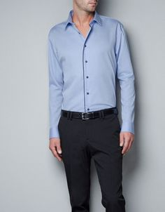 SATIN SHIRT CORDUROY RIBBON - Shirts - Man - ZARA United States