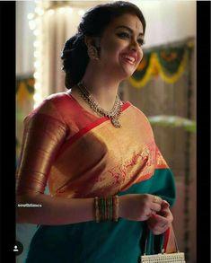 Designer Indian Sari Click VISIT link above for more info sareeblousedesigns Pattu Saree Blouse Designs, Saree Blouse Patterns, Modern Saree, Indian Gowns Dresses, Saree Trends, Saree Models, Stylish Sarees, Indian Beauty Saree, Indian Saris