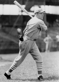 St Louis. Cardinals' Rogers Hornsby finished his career with a .358 batting average, 301 home runs, and 1,584 RBI's. He was inducted to the Baseball Hall of Fame in 1942.