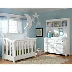Legacy Classic Madison 4 in 1 Convertible Crib Collection - White - LGC1676