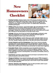New homeowner tips 5 things you should do before moving for New home selections checklist
