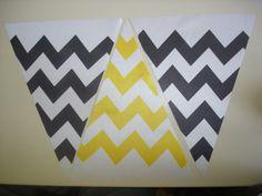 Fabric Bunting Chevron Yellow Black Combo by customflag on Etsy, $19.00 Fabric Flag Banners, Fabric Bunting, Custom Flags, Chevron Fabric, Mirror Image, Diy Hacks, Yellow Black, Edm, Superhero Logos