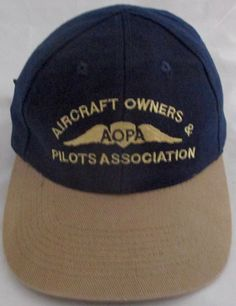 Vintage 1990s AOPA Aircraft Owners and Pilots Association Plane SNAPBACK HAT CAP #Unbranded #BaseballCap