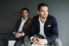 Chris Pine and Zach Quinto