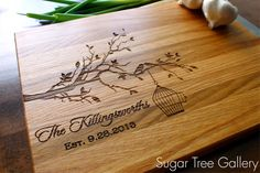 Personalized Cutting Board Wedding Established by SugarTreeGallery, $43.95