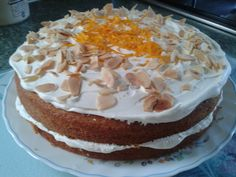 my orange buttercream cake
