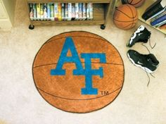 Air Force Academy Fighting Falcons Basketball Shaped Area Rug Welcome/Bath Mat