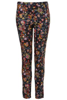Topshop Co-Ord Tapestry Trousers - ShopStyle Skinny Pants Quebec, French Lingerie, Vintage Pants, Pants For Women, Clothes For Women, Printed Pants, Patterned Pants, Pants Pattern, Skinny Pants