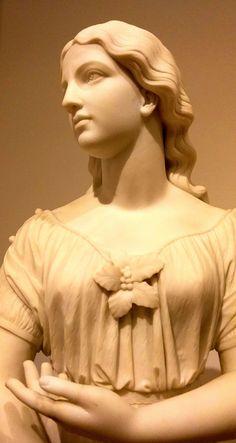 The White Lady of Avenel, Marble. Atlanta Museums, High Museum, Atlanta Georgia, Joseph, Marble, Sculpture, Statue, American, Lady
