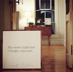 Wood Framed Signboard - We Were Together