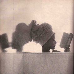 JEAN PATCHETT  Reading and Records   Irving Penn Vogue 1950