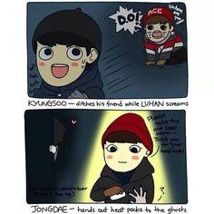 Lol, evil Kyungsoo oppa~