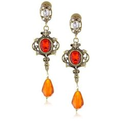 """$87.50 Taara """"Mughal Collection"""" Chalcedony and Crystal Earrings - designer shoes, handbags, jewelry, watches, and fashion accessories 